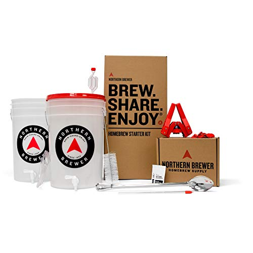 Northern Brewer - Essential Brew. Share. Enjoy. HomeBrewing Starter Set, Equipment and Recipe for 5 Gallon Batches (Block Party Amber)