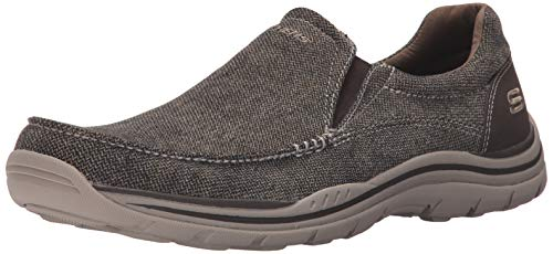Skechers USA Men's Expected Avillo Relaxed-Fit Slip-On Loafer,Dark Brown,10.5 M US