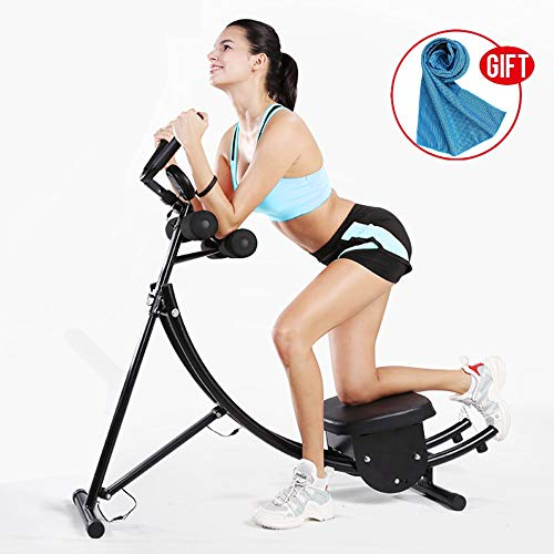 Abdominal Coaster Crunch,Exercise Machine,Muscle Fitness Body Roller Power Workout Machine for Home/Light Commercial Use