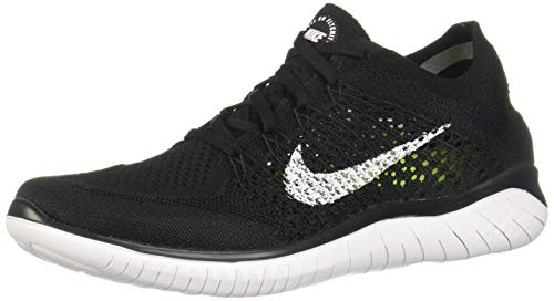 Nike Free RN Flyknit 2018 Black/White 942838-001 Men's Running Shoes (10.5 D US)