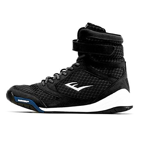 Everlast New Elite High Top Boxing Shoes - Black, Blue, Red (Black, 9)