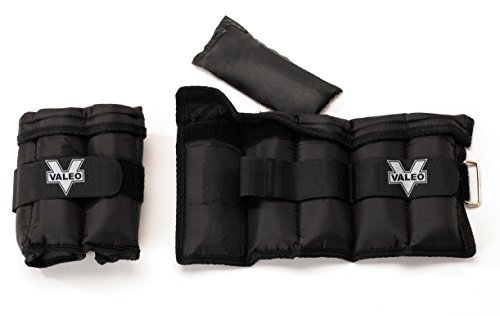 Adjustable Ankle/Wrist Weights - 10 lbs. Total (5 lbs. each) With Adjustable Metal D-ring And Soft Padding For Comfort