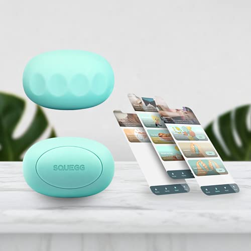 SQUEGG Smart Hand Grip Trainer - A Bluetooth Enabled Digital Dynamometer Device to Evaluate, Track & Improve Your Grip Strength of Each Hand Separately - A Squeeze Ball Hand Exerciser Tool Suitable For Adults & Kids