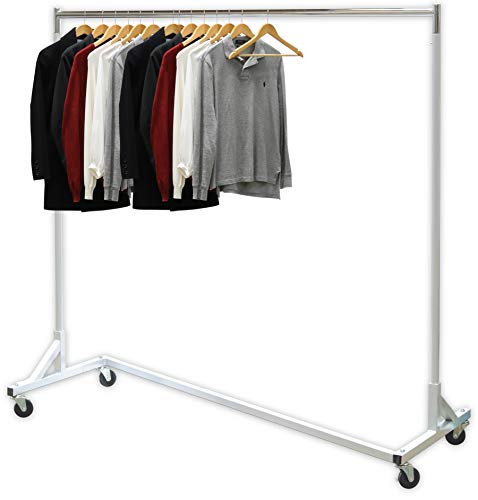 Simple Houseware Industrial Grade Z-Base Garment Rack, 400lb Load with 62in extra long bar