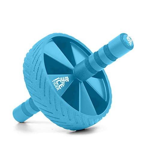 Ice Tiger Ab Roller Wheel - Exercise Equipment - Workout Wheel - Abdominal Strength Machine - Home Gym - Abs Trainer - Core Strengthening Machine - Fitness Training Ab Roller (Blue)