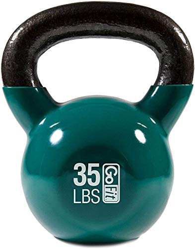 Premium Vinyl Dipped Kettle Bell With Introductory Training Dvd by GoFit