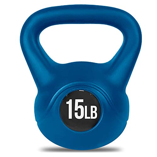 Aduro Kettlebell Weight with Durable Coated Material - 15 LB, Blue
