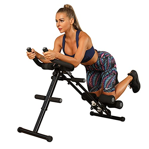 WINBOX Ab Workout Equipment Core & AB Trainer for Home Gym, Foldable and Height Adjustable Ab Coaster, Strength Training and Core/AB Toning Fitness Equipment.