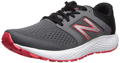 New Balance Men's 520v5 Cushioning Running Shoe, Castlerock/Energy red/Black, 10 D US