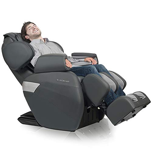 RELAXONCHAIR [MK-II Plus] Full Body Zero Gravity Shiatsu Massage Chair with Built-in Heat and Air Massage System - Charcoal