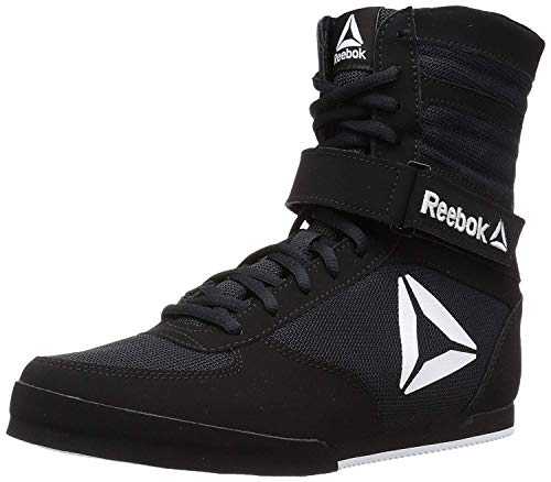 Reebok Men's Boot Boxing Shoe, Black/White, 11.5 M US