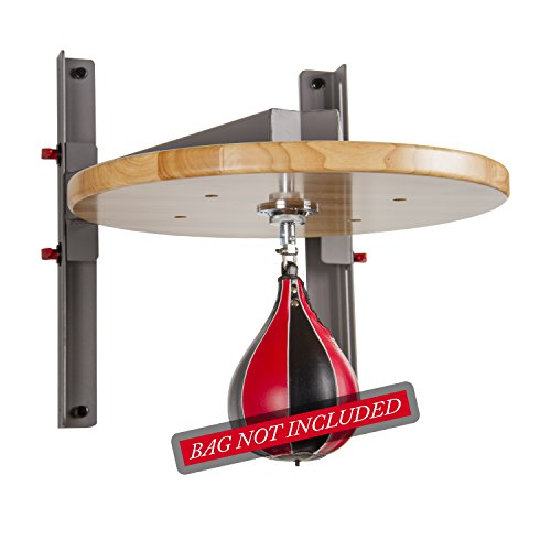 XMark Adjustable Speed Bag Platform with 15' Height Adjustment and Constructed of Heavy Gauge Steel to Minimize Vibration and Optimize Rebound