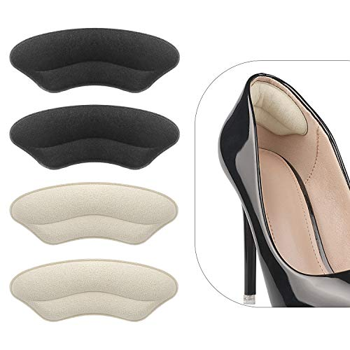 Heel Grips Liner Cushions Inserts for Loose Shoes, Heel Pads Snugs for Shoe Too Big Men Women, Filler Improved Shoe Fit and Comfort, Prevent Heel Slip and Blister (4 Pairs )
