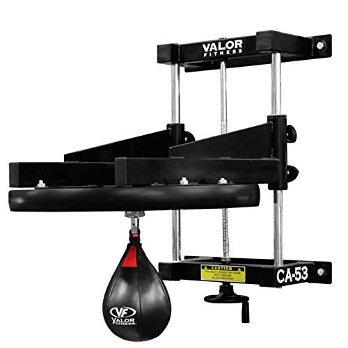 "Valor Fitness CA-53 Adjustable 2"" Boxing Speed Bag Platform with Wheel Crank for Easy Adjustment, Speed Bag Included"