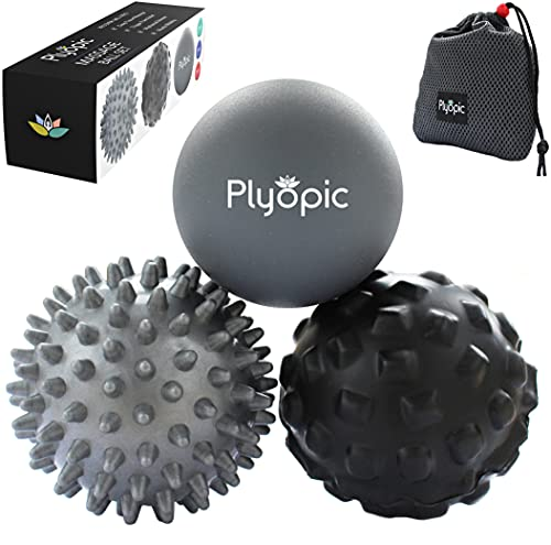 Plyopic Massage Ball Set – for Deep Tissue Muscle Recovery, Myofascial Release, Trigger Point Therapy, Mobility and Plantar Fasciitis Relief