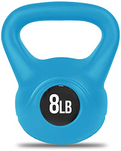 Nicole Miller Kettlebell Weight with Durable Coated Material - 8 Pounds, Light Blue