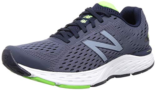 New Balance mens 680 V6 Running Shoe, Pigment/Rgb Green, 11.5 US