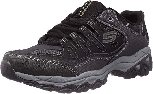 Skechers Men's AFTER BURN M.FIT Memory Foam Lace-Up Sneaker, Black, 9.5 M US