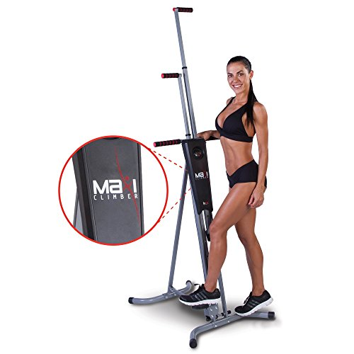 MaxiClimber(r) - The Original Patented Vertical Climber, As Seen On TV - Full Body Workout with Bonus Fitness App for iOS and Android