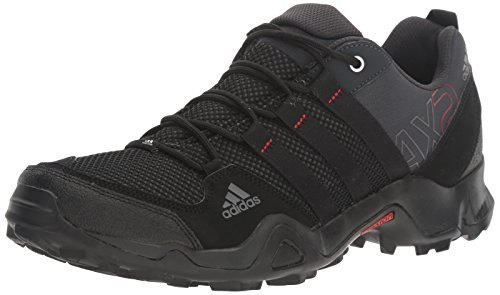adidas outdoor Men's AX2 Hiking Shoe, Dark Shale/Black/Light Scarlet, 9 M US