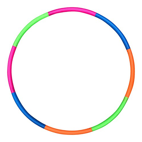 Liberty Imports 42 inches Snap Together Detachable Adjustable Exercise Plastic Large Toy Hoop for Sports and Playing
