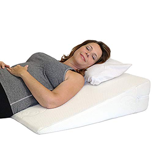 Acid Reflux Wedge Pillow. USA Made with Memory Foam Overlay and Removable Microfiber Cover'Big' by Medslant. 31x28x7 Recommended Size for GERD & Other Sleep Issues. 1 Business Day Ship No Restock Fee