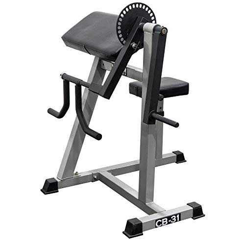 Valor Fitness CB-31 Preacher Curl Bench Machine & Tricep Machine Arm/Bicep Curl Triceps Extension Machine for Home Gym Equipment Exercise Workout