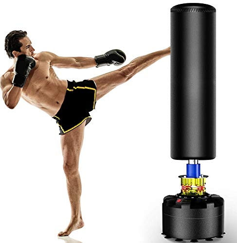 The Power Freestanding Punching Bag, 69''-182lb Heavy Bag with Durable Suction Base - Free Stand Punch Bag for Adult Youth, Kickboxing Bags,Standing Heavy Punching Bag