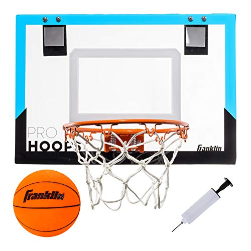 Franklin Sports Over The Door Mini Basketball Hoop - Shatter Resistant - Accessories Included