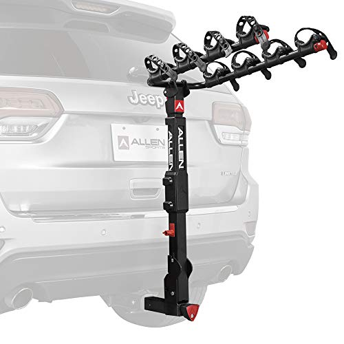 Allen Sports Premier Locking Quick Release 4-Bike Carrier for 2' Hitch, Model QR545