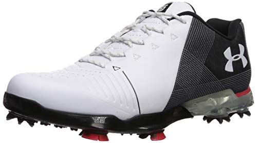 Under Armour Men's Spieth 2 Golf Shoe, White 1 (104)/Black, 9.5