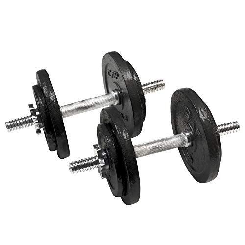 CAP Barbell 50-Pound Adjustable Dumbbell Weight Set, c. Black, 50 LB, Pair