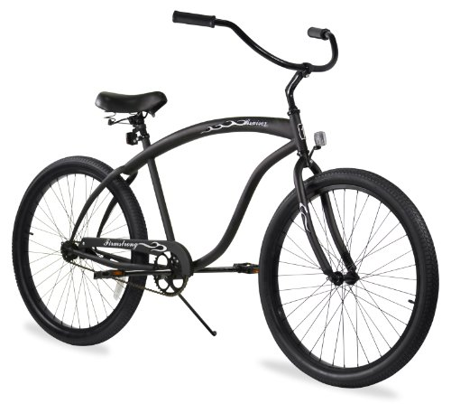 Firmstrong Bruiser Man Single Speed Beach Cruiser Bicycle, 26-Inch, Matte Black