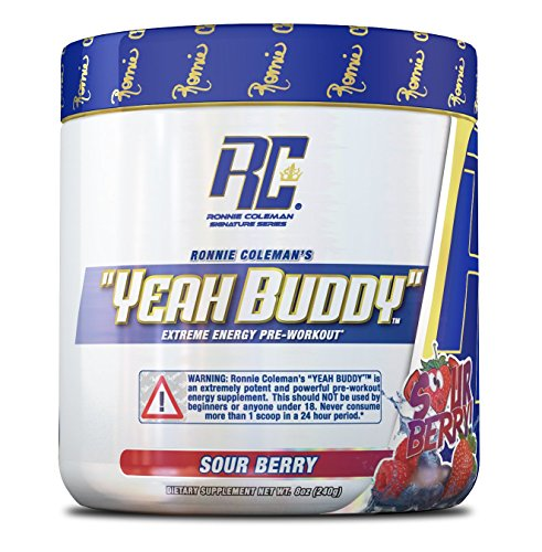 Ronnie Coleman Signature Series Yeah Buddy 30 Serve Pre-Workout Supplement, Sour Berry, 270 Gram