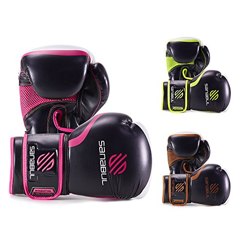 Sanabul Essential Boxing Gloves Pink 12-oz