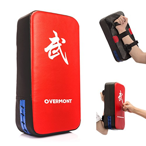 Overmont Taekwondo Kick Pad Boxing Karate Pad PU Leather Muay Thai MMA Martial Art Kickboxing Punching Bag Kicking Shield Training (1PC)