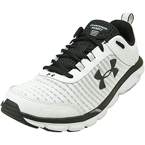 Under Armour mens Charged Assert 8 Running Shoe, White (102 White, 9.5 US