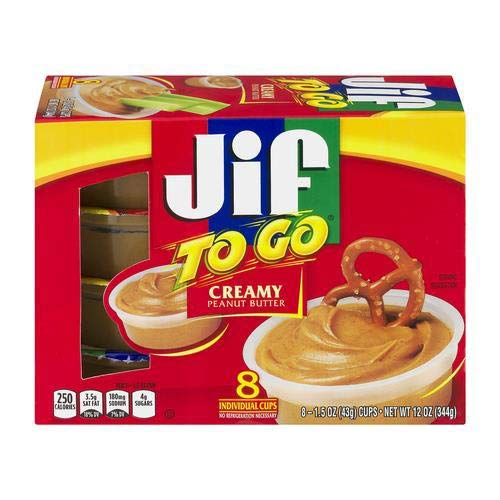 Jif to Go Peanut Butter 1.5 Oz. 8/Box (Pack of 2)