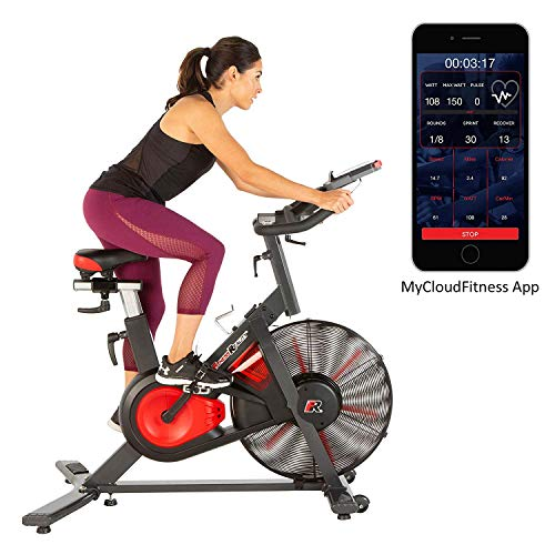 Fitness Reality X-Class 9000 Bluetooth Air Resistance HIIT Indoor Cycling Exercise Fan Bike with Free App