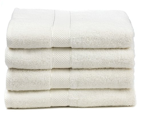 Ariv Collection Premium Bamboo Cotton Bath Towels - Natural, Ultra Absorbent and Eco-Friendly 30' X 52' (Coal)