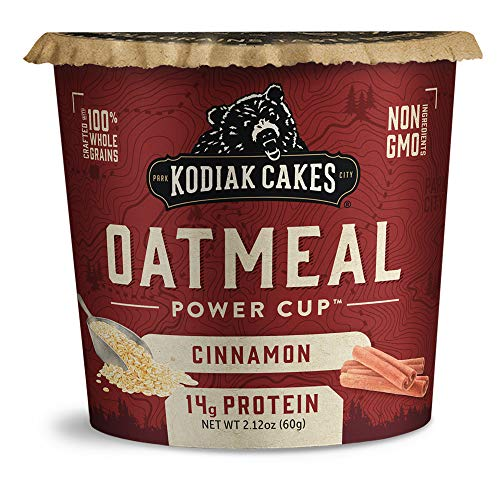 Kodiak Cakes Instant Protein Oatmeal Cup, Cinnamon, 2.12 Ounce (Pack of 12)