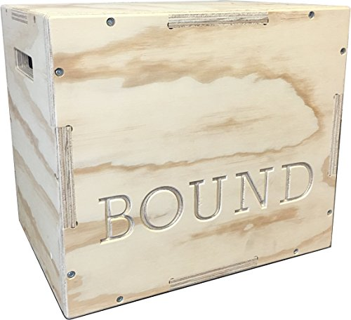 (20/24/30) Bound Plyo Box 3-in-1 Wood Puzzle Plyometric Box - CrossFit Training, MMA, or Plyometric Agility - Jump Box, Plyobox, Plyo Box, Plyometric Box, Plyometrics Box