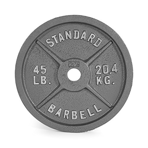 CAP Barbell 45 lb Gray Olympic Weight Plate, Single