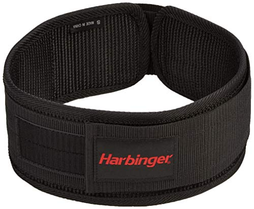 Harbinger 360906 4-Inch Nylon Weightlifting Belt, Large