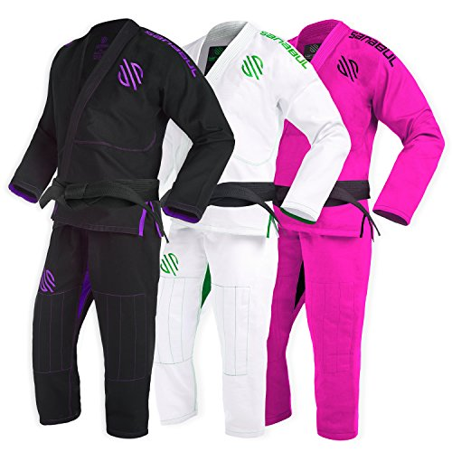 Sanabul New Item Women's Brazilian Jiu Jitsu Gi (Black, W3)