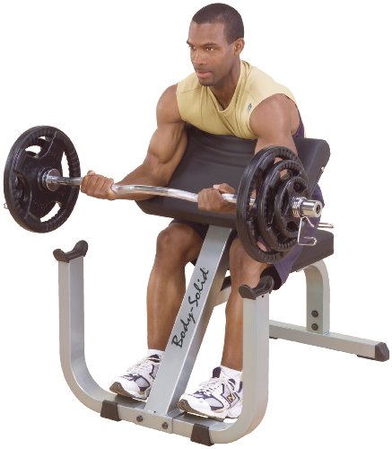 Body-Solid GPCB329 Preacher Curl Bench for Weight Training, Home and Commercial Gym