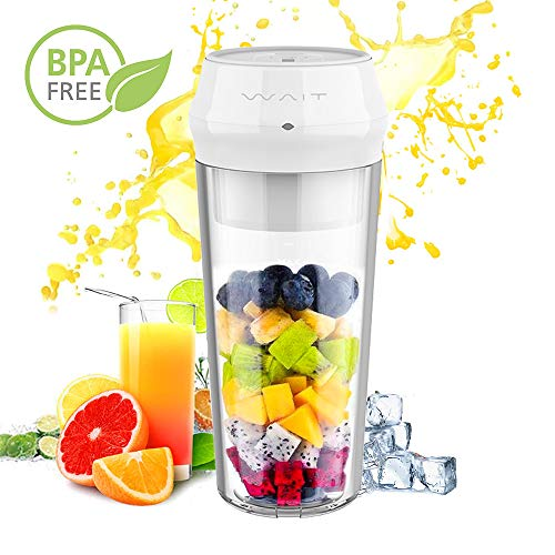 Portable Personal Smoothie Blender, Portable Personal Fruit Juicer with Hidden 304 Stainless Steel Blade with Lock Indicator and Juicer Mixer with USB Type-C Fast Charging for Gym, Office, Travel