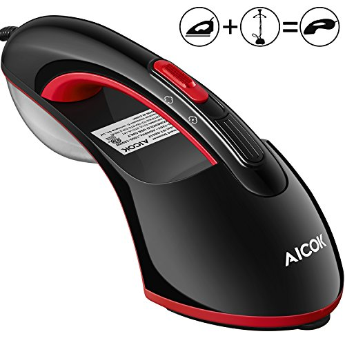 Steamer Iron, AICOK 1200W 15S Fast Preheat Iron, Flat Ironing & Hand-held Steamer, Wrinkle Remover, Clean and Sterilize for Clothes, Perfect for Home and Travel