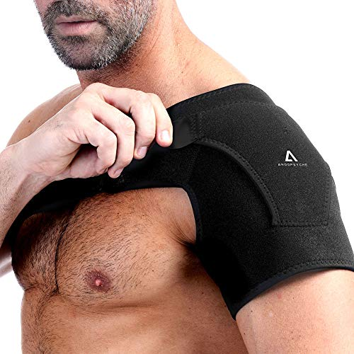 Anoopsyche Shoulder Brace with Pressure Pad Adjustable Shoulder Support Compression Sleeve for Men and Women, Shoulder Pain Relief for AC Joint Dislocations, Labrum Tear, Dislocation