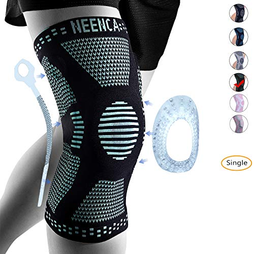 NEENCA Knee Brace,Knee Compression Sleeve for Men & Women with Patella Gel Pads & Side Stabilizers,Medical Grade Knee Support Pads for Running,Meniscus Tear,Arthritis,Joint Pain Relief,Injury Recovery